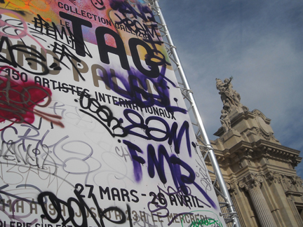 Outside the Tag graffiti exhibition, Grand Palais, Paris