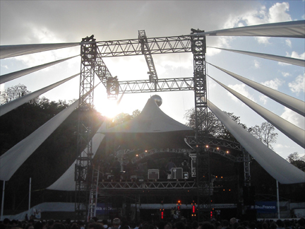 One of the stages at Rock en Seine in Saint Cloud near Paris