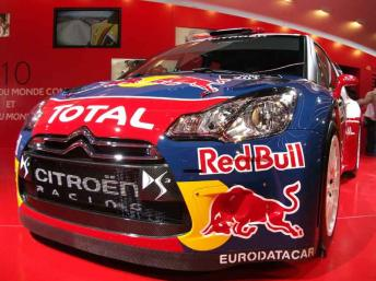 Citroen's DS3 World Rally Car at the Paris car show 2010