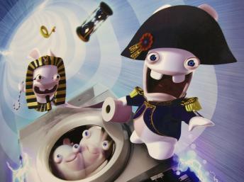 Poster of the Lapins Crétins video game at Paris Games Week