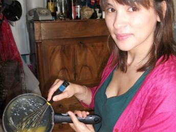 Rachel Khoo making Lemon Curd