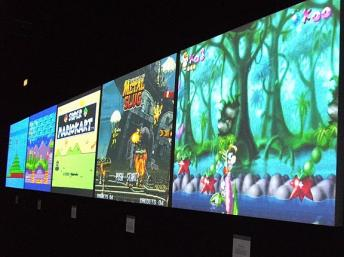 Screens at MuseoGames exhibition