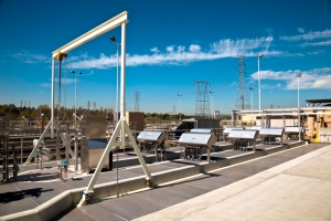 The Whittier Narrows Water Reclamation Plant in El Monte, California, US using Trojan Technologies UV system. Photo: Trojan Technologies, Paul Cockrell and Rachel Lincoln