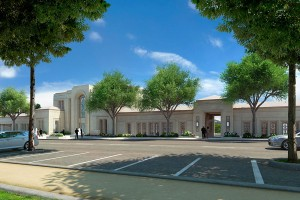 An architectural rendering of what the Mormon temple will look like in Le Chesnay. Photo: Intellectual Reserve Inc